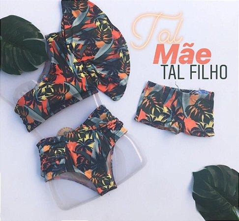 Kit Mae & Filho Biquini Gode & Sunga Infatil Cod:MTS37  Ler a Descrição!