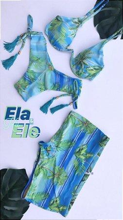 Kit Ele & Ela Biquini Vino & Sunga Adulta Cod:BQTS77  Ler a Descrição!