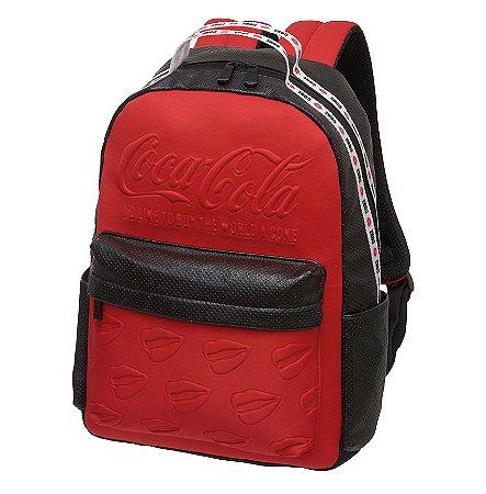Mochila Notebook Adulto Juvenil Coca-Cola Neo Vermelha