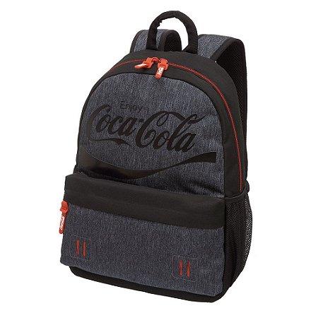 Mochila Notebook Adulto Juvenil Coca-Cola High End Preta