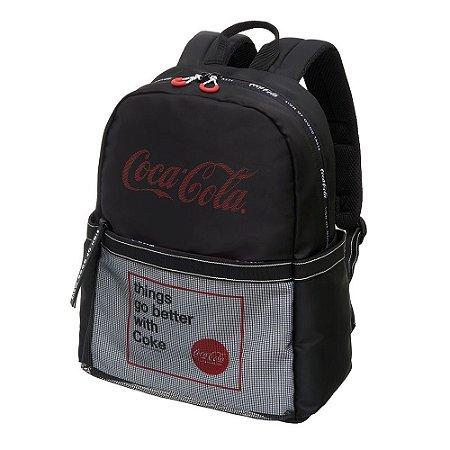 Mochila Notebook Adulto Juvenil Coca-Cola Academy Preta