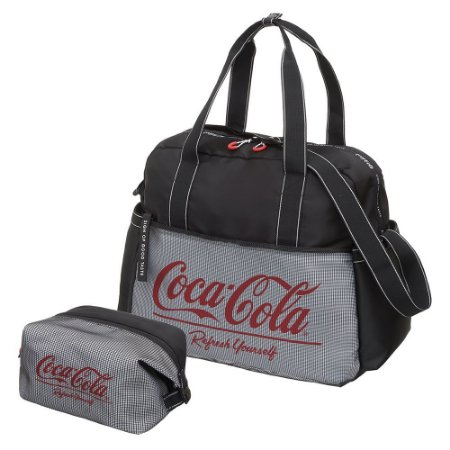 Bolsa com Necessaire Nylon Coca-Cola Academy