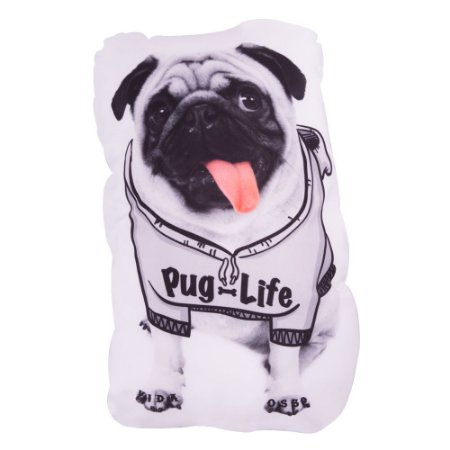 Almofadinha Decorativa Criativa Shape Pet Pug Life Uatt
