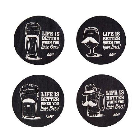Porta Copos MDF Criativo Have Beer Uatt