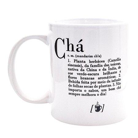 Caneca Cerâmica Dicionário de Chá 330ml