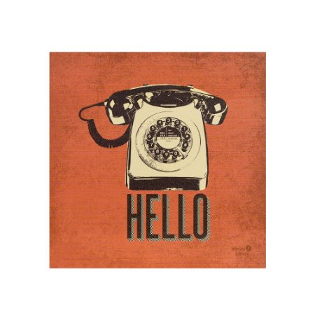 Placa Decorativa Photo Retro Hello
