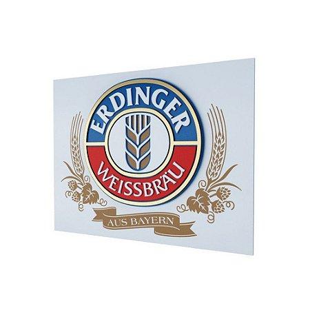 Placa Decorativa MDF Alto Relevo Laqueada Cerveja Erdinger Weissbrau