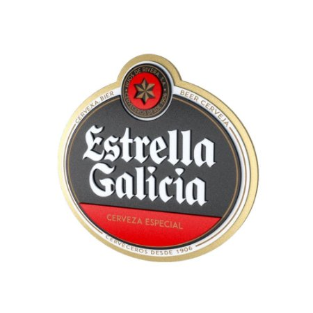Placa Decorativa MDF Alto Relevo Laqueada Cerveja Estrella Galicia