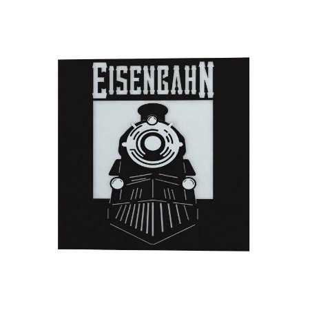 Placa Decorativa Alto Relevo Laqueada Eisenbahn Trem