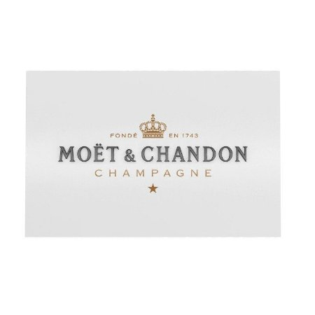 Placa Decorativa Alto Relevo Laqueada Moet & Chandon