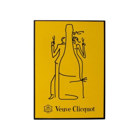 Quadro Decorativo Alto Relevo Laca Veuve Clicquot