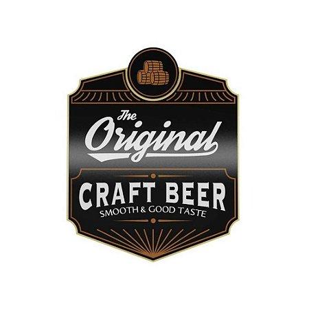 Placa Decorativa Alto Relevo Laqueada The Original Craft Beer
