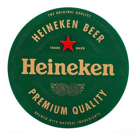 Placa Decorativa MDF Alto Relevo Laqueada Cerveja Heineken