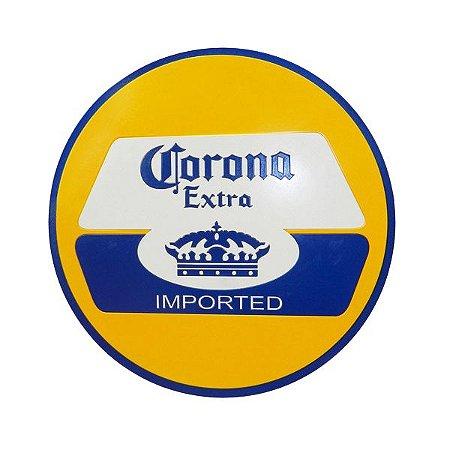 Placa Decorativa Alto Relevo Laqueada Corona