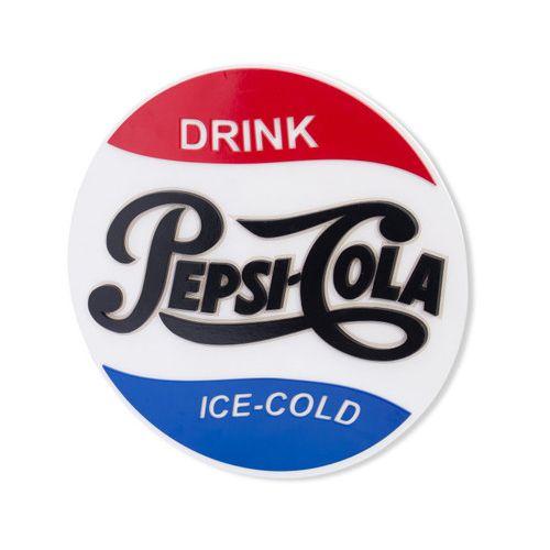 Placa Decorativa Alto Relevo Laqueada Pepsi Cola