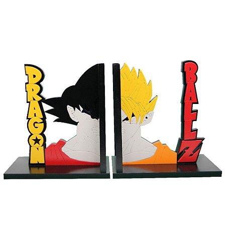 Suporte Aparador de Livros MDF Geek Goku Saiajin
