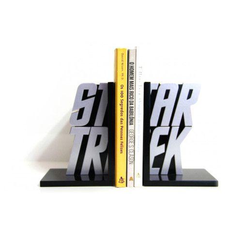 Suporte Aparador de Livros MDF Geek Star Trek