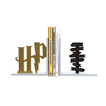 Suporte Aparador de Livros MDF Geek Setas Harry Potter