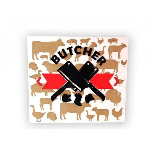 Placa Decorativa MDF Alto Relevo Butcher