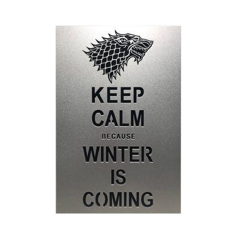 Quadro Decorativo MDF Game of Thrones Winter is Coming