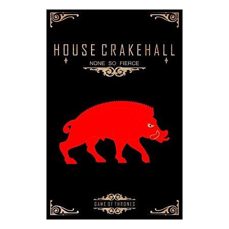 Quadro Decorativo MDF Alto Relevo Game of Thrones Crakehall