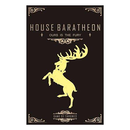 Quadro Decorativo MDF Alto Relevo Game of Thrones Baratheon
