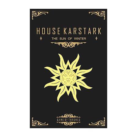 Quadro Decorativo MDF Alto Relevo Game of Thrones Karstark