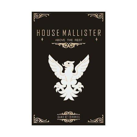 Quadro Decorativo MDF Alto Relevo Game of Thrones Mallister