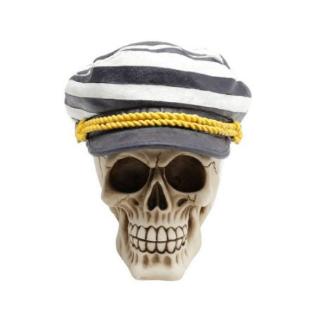 Caveira Decorativa de Resina Sailor Cap