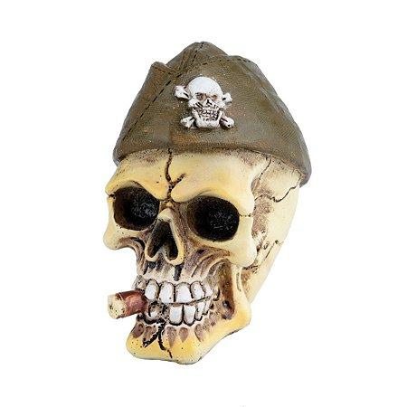 Mini Caveira Decorativa de Resina General Beret