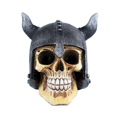 Caveira Decorativa de Resina Viking