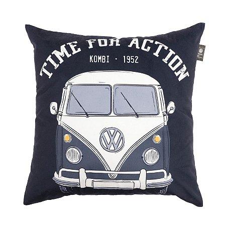 Capa Aveludada para Almofada Mini Kombi Time For Action 45x45cm