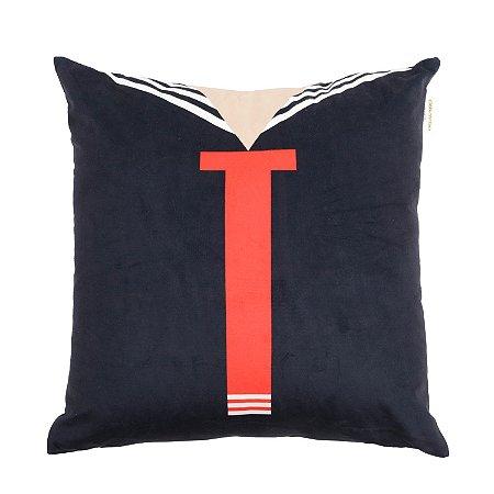 Capa Aveludada para Almofada Kiko Shirt 45x45cm