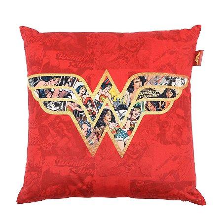 Capa de Almofada DC Logo Mulher Maravilha 45x45cm