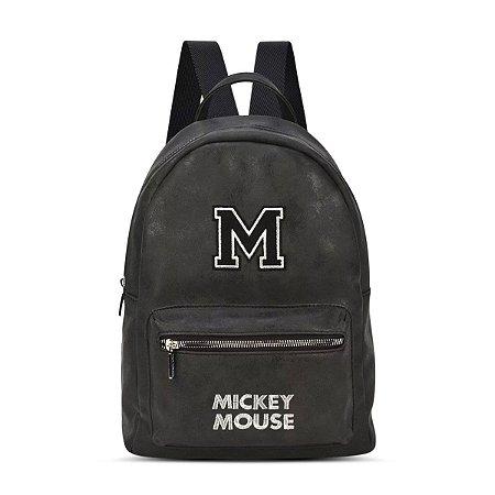 Bolsa Mochila Feminina Disney Mickey Mouse Patch