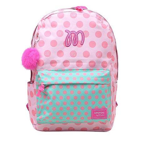Mochila Feminina Escolar Pink Up4you By Maisa