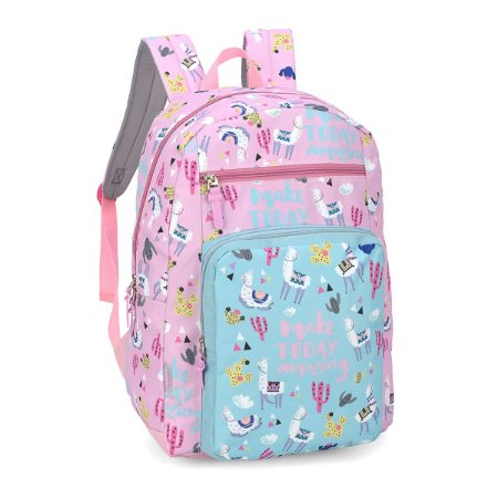 Mochila Feminina Escolar Notebook Lhama Pink Up4you