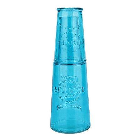 Moringa de Vidro Summer Colors Azul 800ml