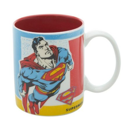 Caneca Geek Porcelana DC Comics Superman Flying 300ml