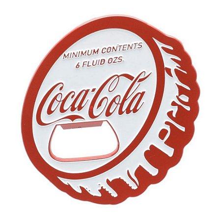 Abridor de Garrafas em Metal com Imã Coca-Cola Tampa