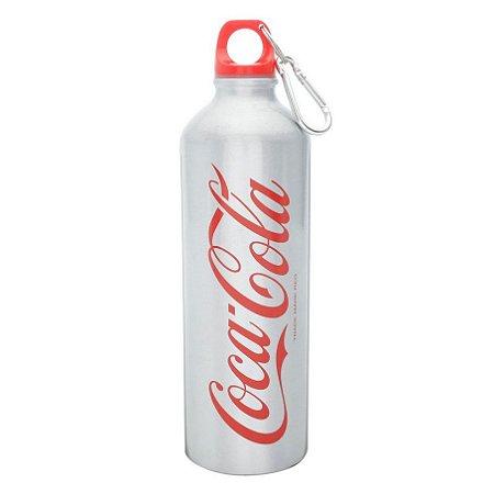 Garrafa Squeeze Alumínio Coca-Cola Classic Prateada 750ml