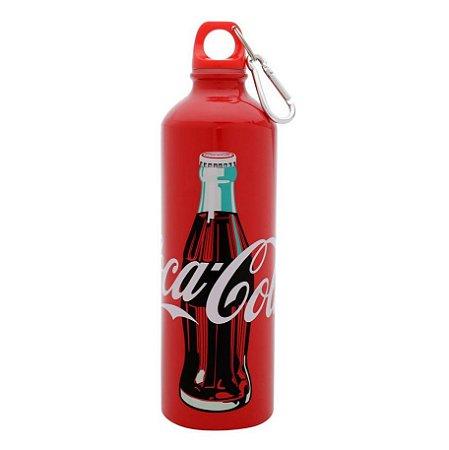 Garrafa Squeeze Alumínio Coca-Cola Classic Vermelha 750ml