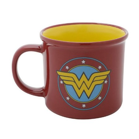Caneca de Porcelana DC Comics Mulher Maravilha Stars 380ml