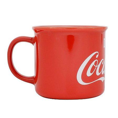 Caneca Porcelana Coca-Cola Drink Vermelha 380ml