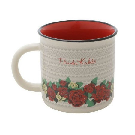 Mini Caneca Porcelana Frida Kahlo Flowers 220ml