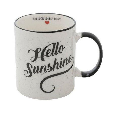 Caneca Porcelana Love Hello Sunshine 350ml