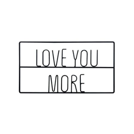 Letras Decorativas de Metal Love You More Preto