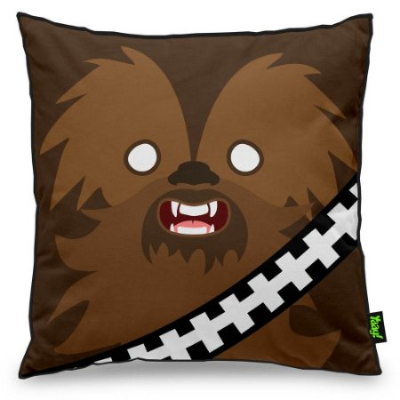 Almofada Geek Side Faces Chill Bacca 40x40cm