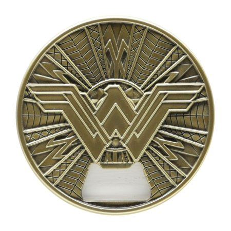 Abridor Garrafas Geek Metal com Imã Wonder Woman Fancy Dourado