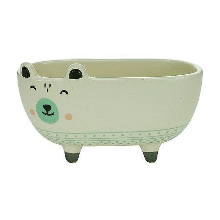 Vaso Cachepot Cerâmica Banheira Cãozinho Charmoso